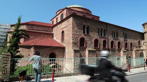 People near Temple of Hagia Sophia Footage