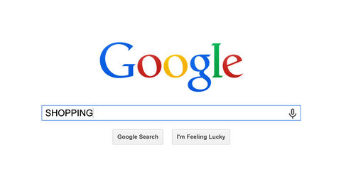 Google Is Most Popular Search Engine In The World. Search For SHOPPING stock footage