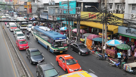 Moving traffic in Bangkok, Thailand Footage
