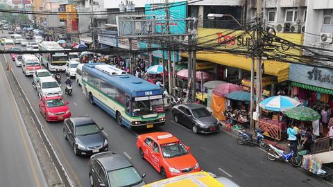 Moving traffic in Bangkok, Thailand Footage