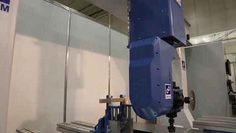 Multiprocessing machine tool for woodworking enterprise Footage