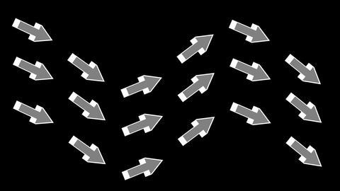 4k Arrow Symbol & Track Path,economics Management, stock footage