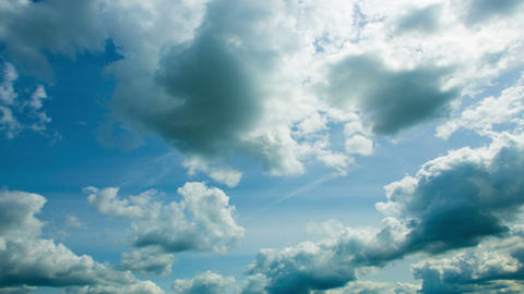 Fast Beautiful Clouds In Time-lapse. Daylight. 4K stock footage