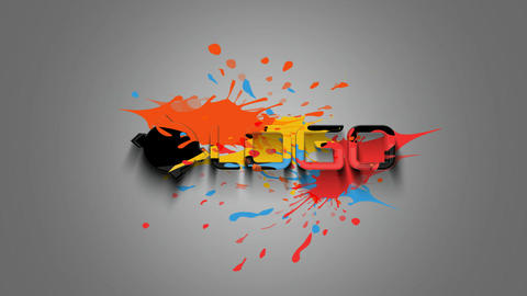 3D Paint Logo After Effects Template