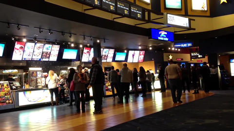 People line up for buying food at cinema Live Action
