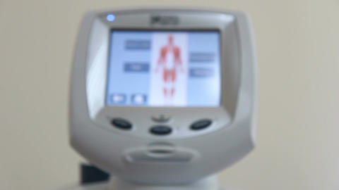 Coronary Angiography Device stock footage