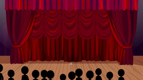 Opening Night on the Cartoon Stage, Stock Animation