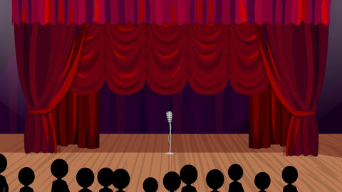 Opening Night on the Cartoon Stage Stock Video Footage