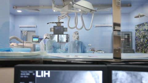 A Process Of The Angiographic Surgery Through Sigh stock footage
