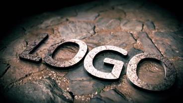 3D Metallic Stone Logo Reveal stock footage