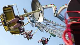 Amusement Park Wheel Timelapse stock footage