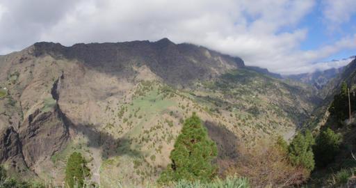 4K, Barranco De Las Angustias, La Palma, Canaries Footage