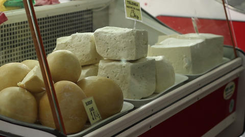 Bellows Cheese for Sale Footage