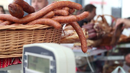 Butchery Store stock footage