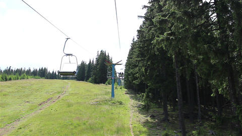 Chair Lift Travelling View Footage