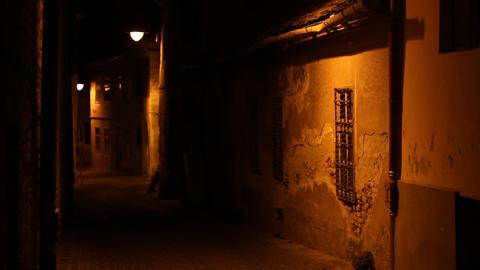 Dark Old House Alley Footage