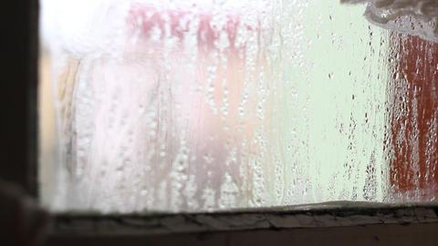Focus Change on Sweaty Window Footage
