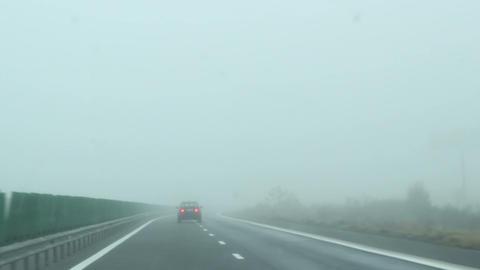 Fog on Highway Footage