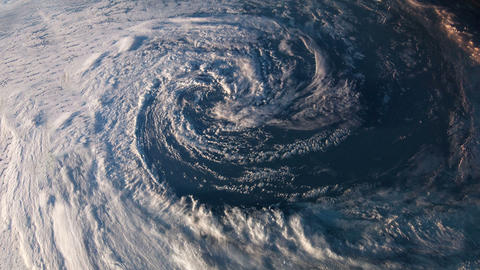 Earth from space hurricane Footage