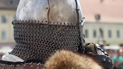 Helmet with Chain Mail Live Action