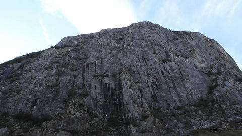 High Steep Rock Wall Live Action