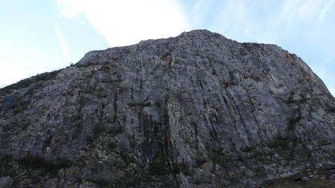 High Steep Rock Wall Footage