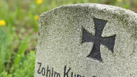 Iron Cross Grave stock footage