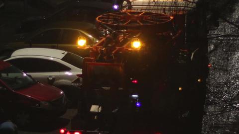 Night Sewage Truck Intervention Footage