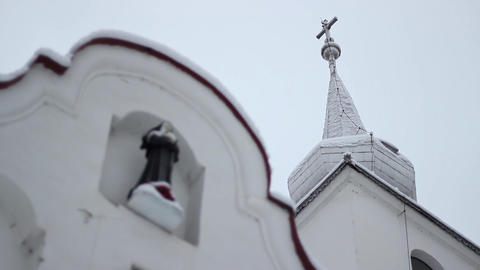 Nun Statue on Church Footage