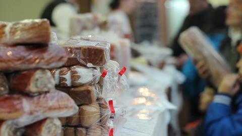 Shopping For Cake And Pastry stock footage