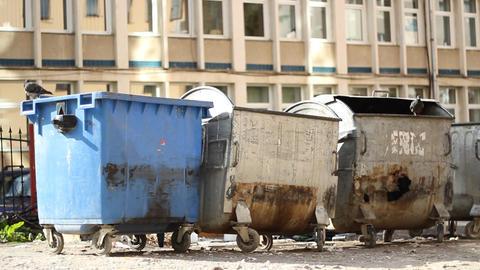 Slum Garbage Dumpsters Footage