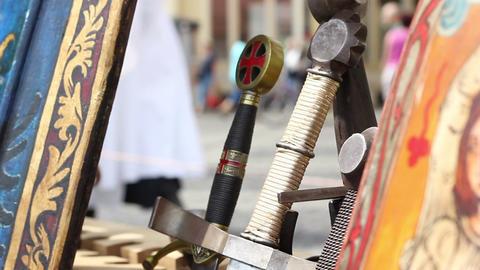 Swords Handles stock footage