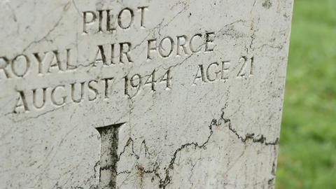 WWII British Pilot Grave Footage