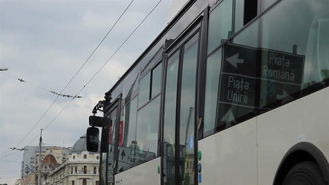Windows Reflections on Trolleybus Footage