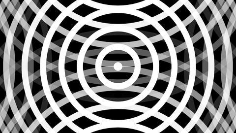wave white radio with alpha matte Animation
