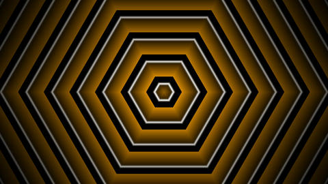 hexagon golden stripe with alpha matte CG動画素材