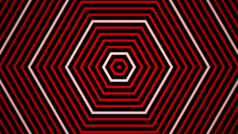 red white line wave with alpha matte Animation