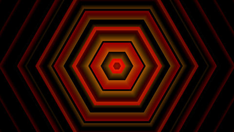 red hexagon tunnel with alpha matte Animation