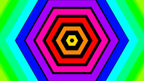 rainbow hexa stripe with alpha matte Animation