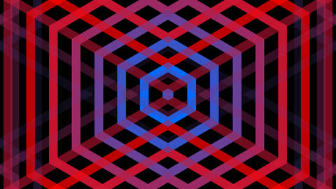 hexagonal mirror stripe with alpha matte Animation