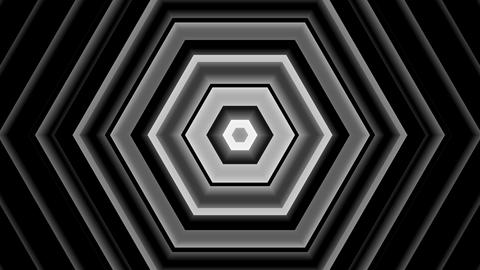 digital hexagon tunnel with alpha matte Animation