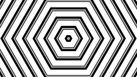 white hexagonal stripes with alpha matte Animation