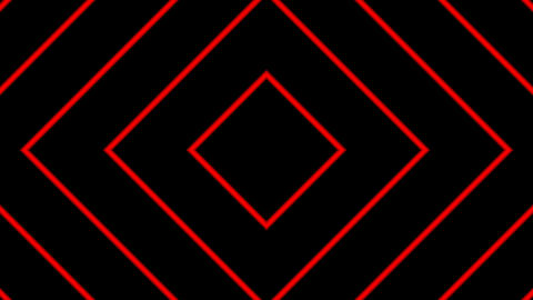 red line square with alpha matte Animation