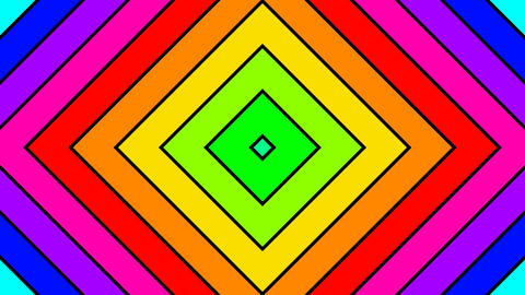 colorful diamond stripes with alpha matte Animation