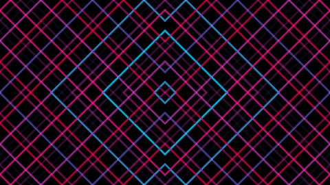 Diamond Line Pattern With Alpha Matte stock footage