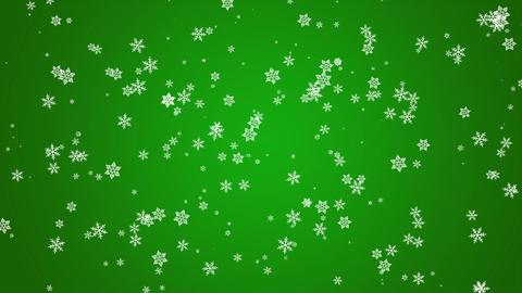 雪パーティクル緑 Animation