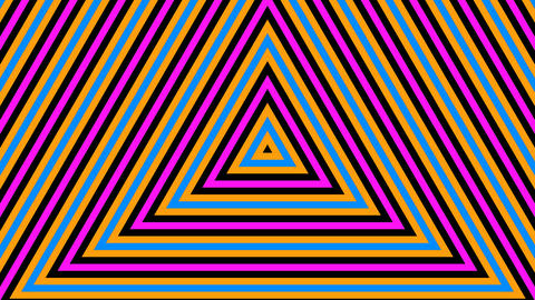 triangle retro stripes with alpha matte Animation