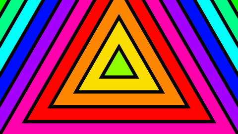 colorful triangle stripes with alpha matte Animation