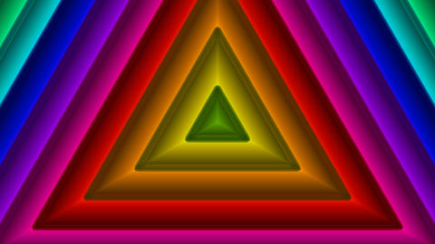 colorful triangle pattern with Animation