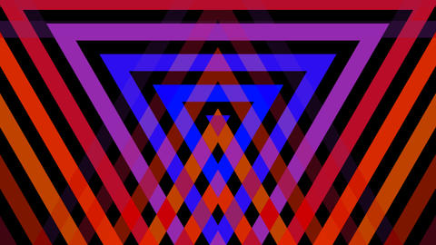 triangle mirror stripe with alpha matte Animation